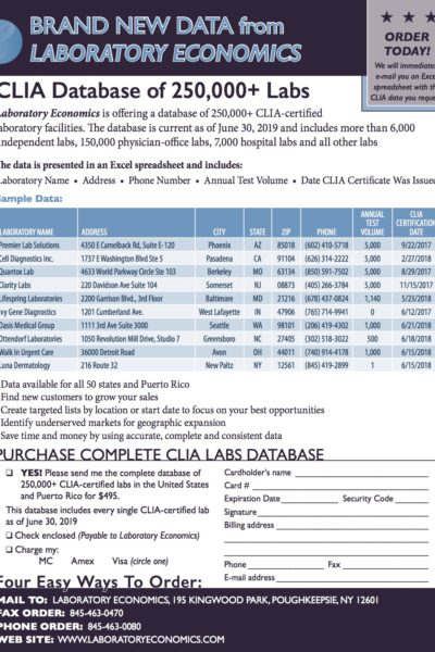 CLIA Database Flyer Image